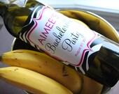 Zebra Bridal Shower or Bachelorette - Custom Wine Bottle Labels