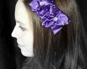 SALE 50% OFF... Double Purple Flower Headband