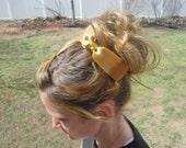 SALE 50% OFF...Gold Hair bow headband