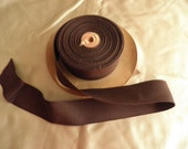 Vintage Chocolate Brown Grosgrain Ribbon
