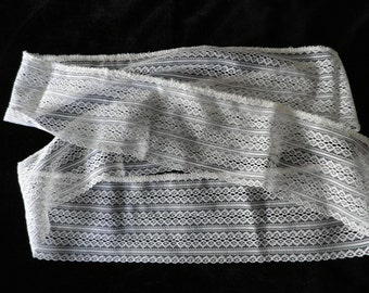Vintage White Nylon Lace Vintage