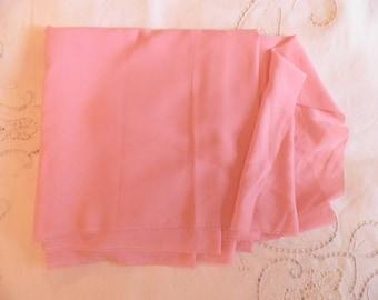 Vintage Soft Carnation Pink Fabric, Vintage Textiles, Vintage Material, Seventies Fabric, Vintage Sewing Supplies