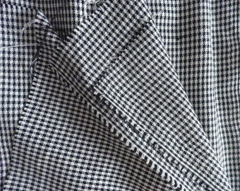 Vintage Black and White Woven Fabric