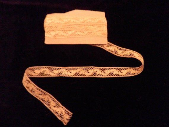 Delicate Narrow French  Lace Vintage