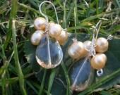 Handmade Elegant Pearl and Crystal Earrings