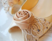 Bridal shoe clips, wedding shoe clips, Bridesmaids shoe clips, shoe clips, bridal gift, wedding gift  -NUDE COLLECTION-01