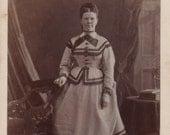 CDV photo of a woman in a fancy dress