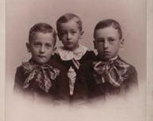 Cabinet Card, 3 brothers from Elkhart, Indiana