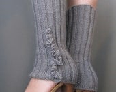 Ruffled Legwarmers (gray)  (made to order, allow 2 weeks for delivery)