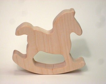 Wooden Teether Toy for Baby Rocking Horse Teether for Infants and Toddlers