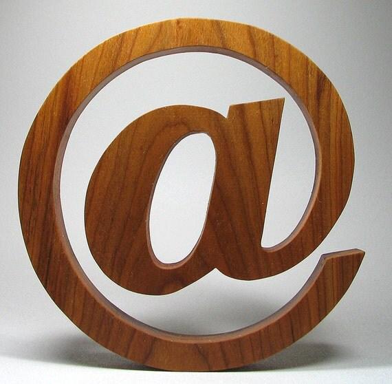 """Wooden """"At"""" Character character Natural Solid Wood"""