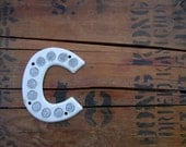 Letter C Metal Highway Sign Vintage 4.75 Inches Tall
