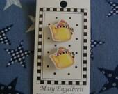 Mary Engelbreit Designer Button, Yellow & Black Check Teapots