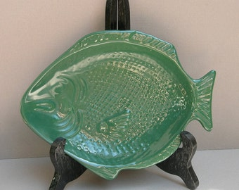 Green Fish Plate Soap Dish Spoon Rest Artbel Brazil