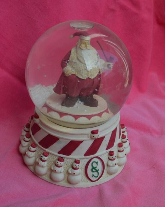 Santa claus musical snow globe san francisco music box co