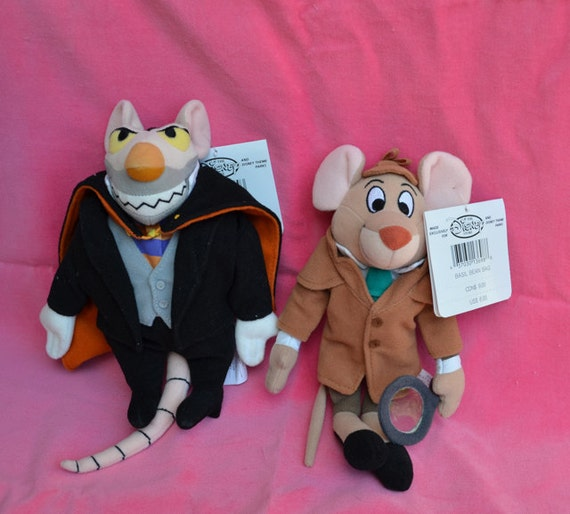 Disney The Great Mouse Detective Movie Basil And Ratigan Plush