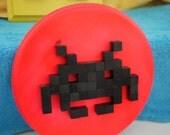 Space Invaders 8-bit Wood Mosaic