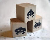 Invader Stamps Set of 3