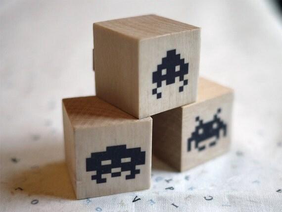 Invader Stamps Set of 3