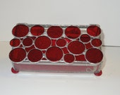 Stained glass red circle box