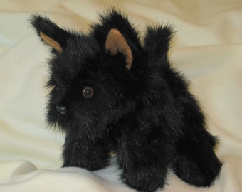 Black Puppy Dog Hand Puppet