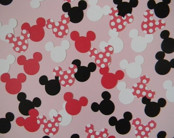 Ready to Ship - Minnie Mouse Birthday Party Confetti Red Polka Dot - 200 pieces