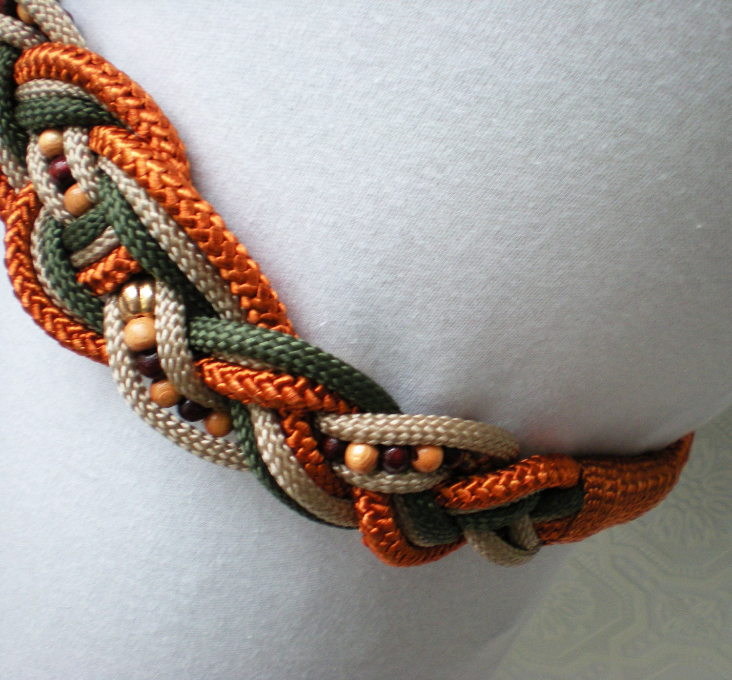 macrame belts vintage macrame belt tones of autumn by calicobloomvintage 6791