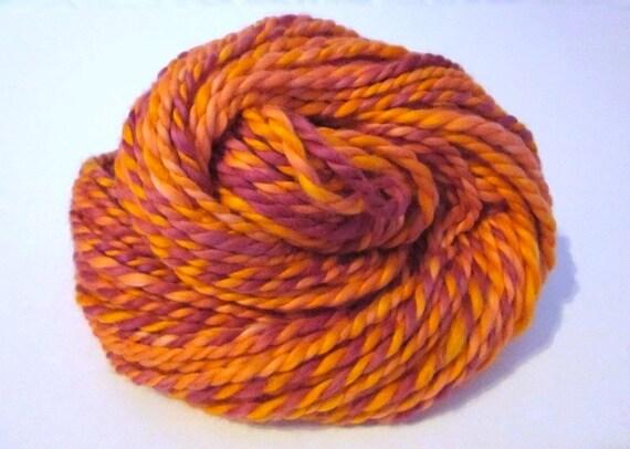 Hand-dyed Handspun 2-ply Organic Vegan Cotton Yarn