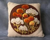 RESERVED FOR ANGELA -Vintage Floral Needlepoint pillow