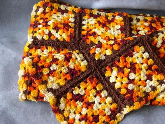 Vintage Sunset Crochet Afghan