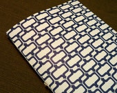 30 Day Paleo Diet Challenge Journal in Blue and White Parenthetical Pattern