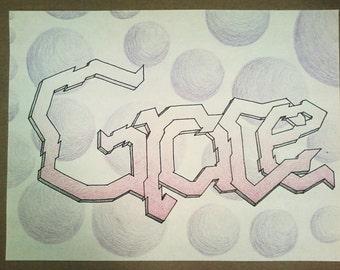 Custom Graffiti Drawing