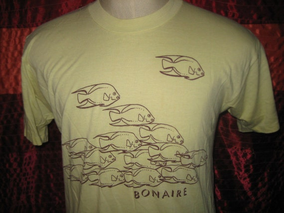 1970's Bonaire t-shirt, soft and thin, L-XL