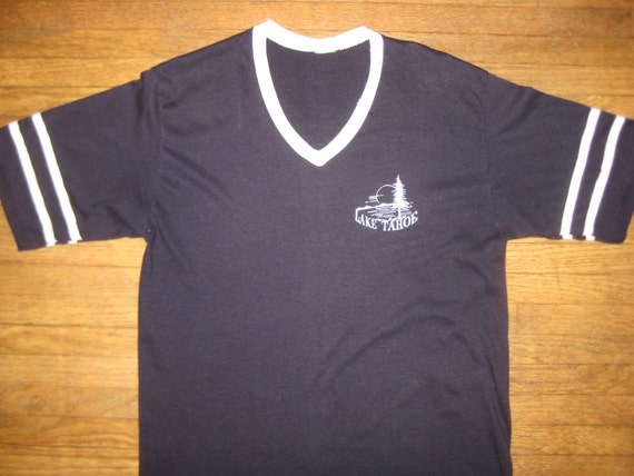 1970's, 1980's Lake Tahoe t-shirt, CRAZY soft and thin, M-L