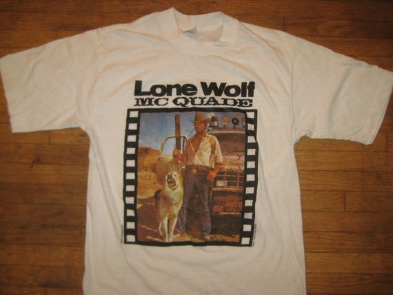 1983 Chuck Norris movie t-shirt, Lone Wolf Mcquade, soft and thin, S-M