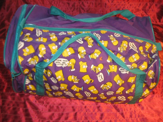 1990 The Simpsons duffle or gym bag