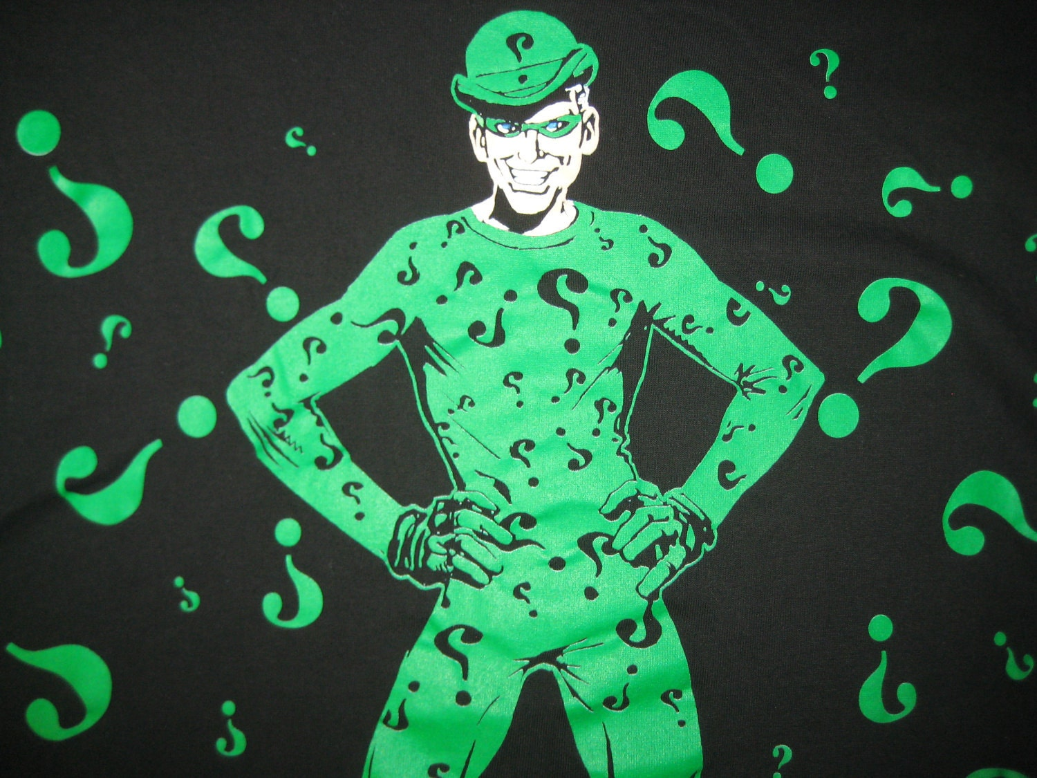 Vintage 1995 t shirt the riddler xl for Riddler t shirt with bats