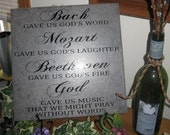 Bach gave us God's word,