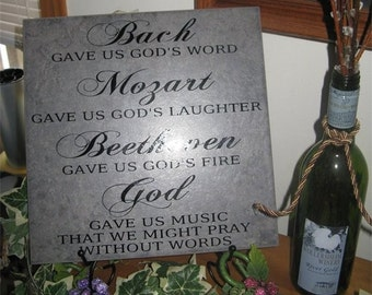 Bach gave us God's word,