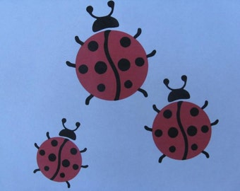 Lady Bug Wall Decals Set of 3