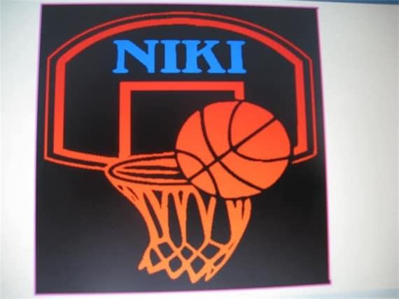Basketball Hoop With Custom Name