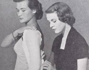 Vintage 1940s 1950s dressmaking book Practical Home Dressmaking Illustrated