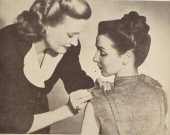1940s dressmaking book Practical Home Dressmaking Illustrated