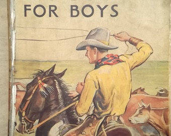Vintage boys' book 1930s children's story book The Big Budget for Boys