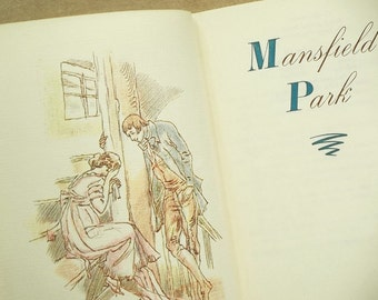 Mansfield Park illustrated Jane Austen book.