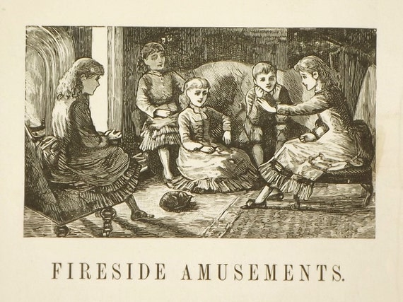 Victorian book of indoor games Fireside Amusements