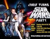 Star Wars Invitations Custom Designed with your child as Luke Skywalker