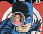 Batman Invitations Custom Designed  with your childs photo Design 1