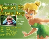 Tinker Bell Invitations Custom Designed Fairy with your Kids Photo
