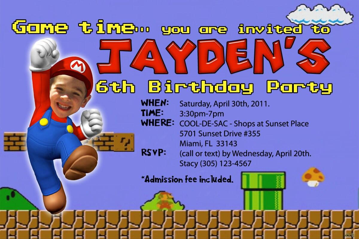 Mario Birthday Invitations and get inspiration to create nice invitation ideas